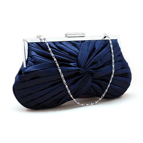 Spin Designed Satin Clutch - Dark Blue