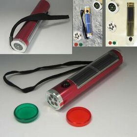 Solar Powered Flash light with compass (Screen), Price/piece