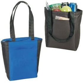 "Cooler Tote Bag, 600D Polyester With Heavy Vinyl Backing (9""X12""X6""), Price/piece"