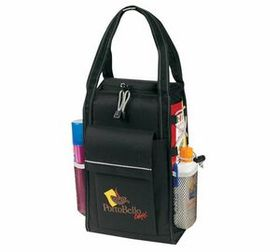 Banaka Insulated Cooler Wine Tote Bag, 600 D Polyester With Pvc Backing, Price/piece