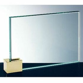 Achievement Award W/ Brass Rectangular Holder (6x8) - Screened, Price/piece