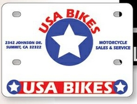 "Motorcycle License Plates -.055"" Earth Friendly White Polyethylene, Price/piece"