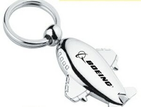 "Minya International Metal Airplane Key Chain, 1 1/2"" W X 2"" H X 1 1/4"" D, Price/piece"