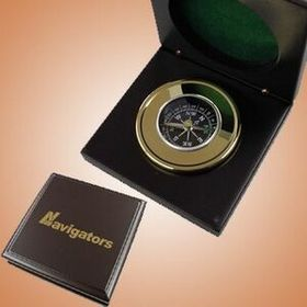 Brass Compass In Wooden Box (Screened), Price/piece