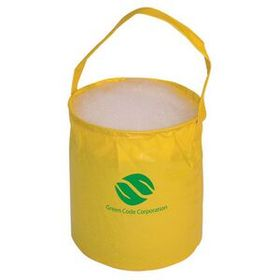 "Justin Case Yellow Pvc Fold Away Bucket, 9"" Diameter X 12"" H, Price/piece"