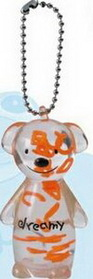 Jello Bear Shaped Key Chain w/ Letter Insert, Price/piece