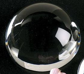 Dome Magnifier Crystal Paperweight (4&quot;), Price/piece