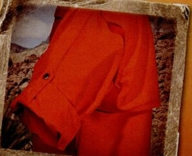 Men's Microfiber Long Sleeve Blaze Orange Shirts, Price/piece