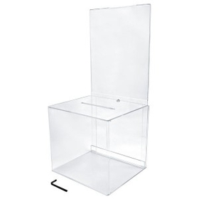 "Large Clear Ballot Box with Riser (8"" Deep), Price/piece"
