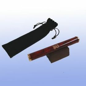 Burgundy Marbleized Brass Kaleidoscope w/ Pouch (Screened), Price/piece