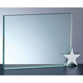 Achievement Award W/ Chrome Star Holder (4x6) - Screened, Price/piece