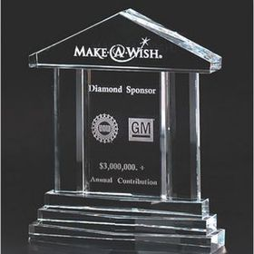Optical Cut Beveled Crystal Building Award, Price/piece