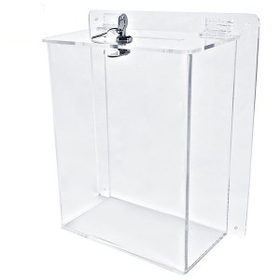 "Large Clear Ballot Box with Key Lock (8.5""x11"" Insert), Price/piece"