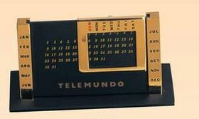 Gold Plated Column & Black Perpetual Calendar (Screened), Price/piece