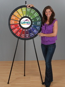 18-Slot Black Floor Stand Prize Wheel Game, Price/piece