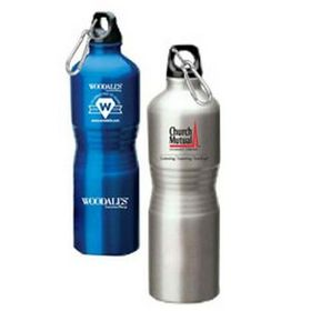 Aluminum Sport Bottle, Firm Bent-In Grip Shape(Screen printed), Price/piece