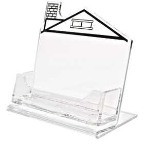 Horizontal Business Card Holder with Left Chimney House Imprint, Price/piece