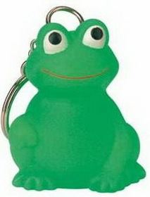 "Goodview Rubber Mini Frog Key Chain, Screen Printed, 1 1/4"" L X 1 1/2"" W X 2 1/8"" H, Price/piece"