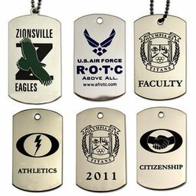 Etched Soft Enamel Dog Tag on Stainless Steel, Price/piece