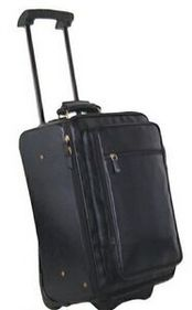 Hand Stained Calf Leather Wheeled Travel Bag, Price/piece