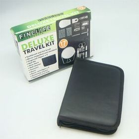 17PCS DELUXE TRAVEL KIT (Screen printed), Price/piece