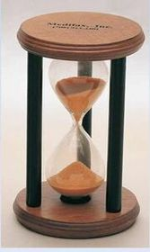 3 Minute Wooden Sand Timer (Screened) (3&quot;x4 3/4&quot;), Price/piece