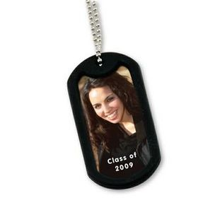 "Illini Photo Dog Tag, Pad Printed, 1 7/16"" W X 3 1/16"" L, Price/piece"