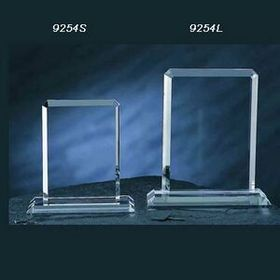 Crystal Rectangular Award(Sand Blast), Price/piece