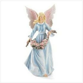 8 1/4&quot; L x 8 3/4&quot; W x 18 1/4&quot; H Polyresin Angel Figurine, Price/piece