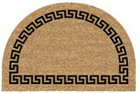 "Half Round Greek Key Border Doormat, 23.5"" W X 35.5"" L, Price/piece"