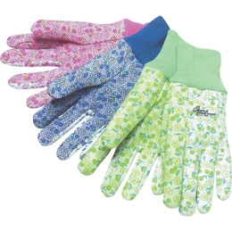 Assorted Color Cotton Gardening Gloves, Price/piece