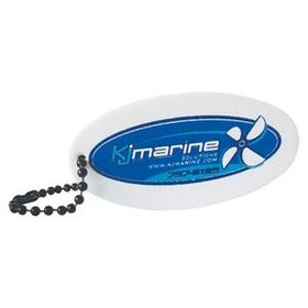 Foam Floating Key Tag - Oval, Screen Printed, Price/piece