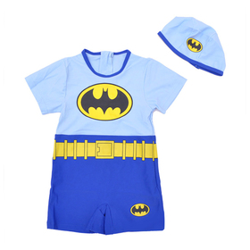 Toddler Boys' Swimsuit /Bath Suit / Costume, Batman Design, One-Piece Swimwear