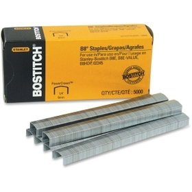 "Bostitch B-8 Staples, 0.25"" Leg - 0.5"" Crown, Price/BX"
