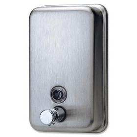 Genuine Joe Stainless Steel Soap Dispenser, Manual, Price/EA