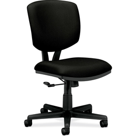 "HON Volt 5701 Basic Swivel Task Chair, Black Frame26"" x 19.25"" x 40"" - Polyester Black Seat, Price/EA"