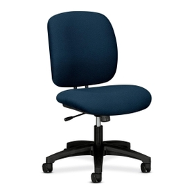 "HON ComforTask 5902 Task Swivel Chair, Steel Black Frame23"" x 28"" x 30"" - Olefin Blue Seat, Price/EA"