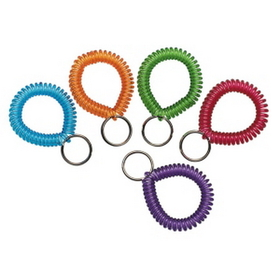 MMF Wrist Cool Coil Key Ring, Plastic - 1 Each - Assorted, Price/EA