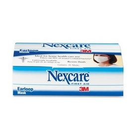 Nexcare Ear Loop Filter Mask, Polypropylene, Polyethylene, Aluminum - 20 / Box - White, Price/BX