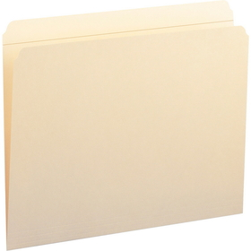 "Smead Straight Cut File Folder, Letter - 8.5"" x 11"" - 0.75"" Expansion - 100 / Box - 11pt. - Manila, Price/BX"