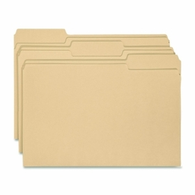 "Smead Antimicrobial Folder, Letter - 8.5"" x 11"" - 1/3 Tab Cut on Assorted Position - 0.75"" Expansion - 100 / Box - Manila, Price/BX"