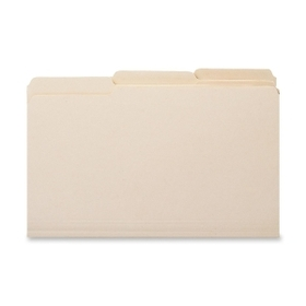"Smead Top Tab File Folder, Letter - 8.5"" x 11"" - 1/3 Tab Cut on Assorted Position - 0.75"" Expansion - 100 / Box - 11pt. - Manila, Price/BX"