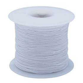 White Elastic Cord 100yd - Medium, Price/each
