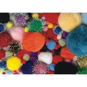 Pom Poms - Assorted Sizes and Colors (pk/300), Price/per pack