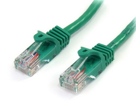 Startech 15 ft Green Snagless Cat5e UTP Patch Cable