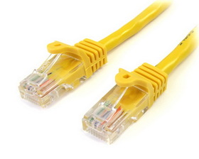 Startech 25 ft Yellow Snagless Cat5e UTP Patch Cable