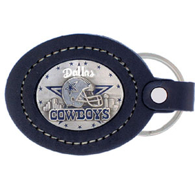 Siskiyou FLK055 Large Leather Key Chain - Dallas Cowboys
