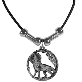 Siskiyou PT231S Earth Spirit Necklace - Howling Wolf