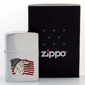 Siskiyou ZS26 Patriotic Zippo Lighter- American Flag and Eagle