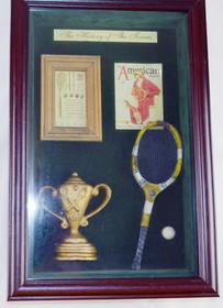 "Wooden Shadow Box ""History of Tennis"""
